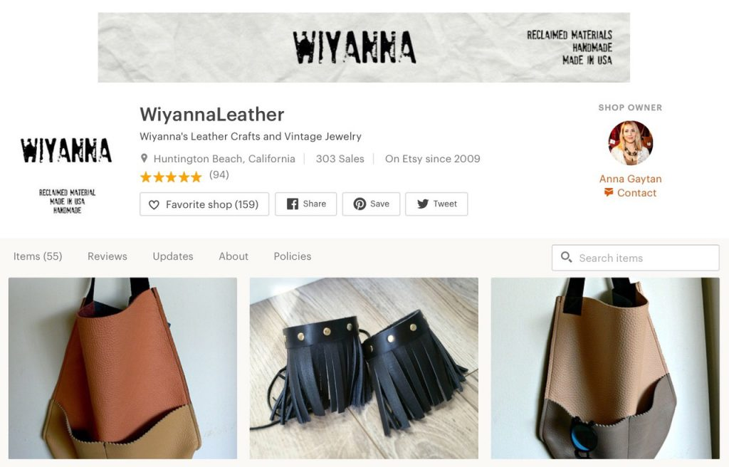 wiyanna . com leather made for you